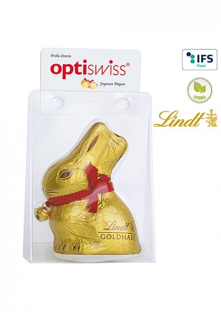 Lindt & Sprüngli Osterhase in Verpackung