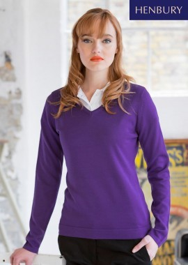 Ladies Lightweight V-Neck Jumper