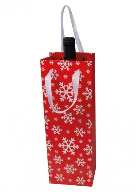 Weihnachtstragetasche für eine Flasche