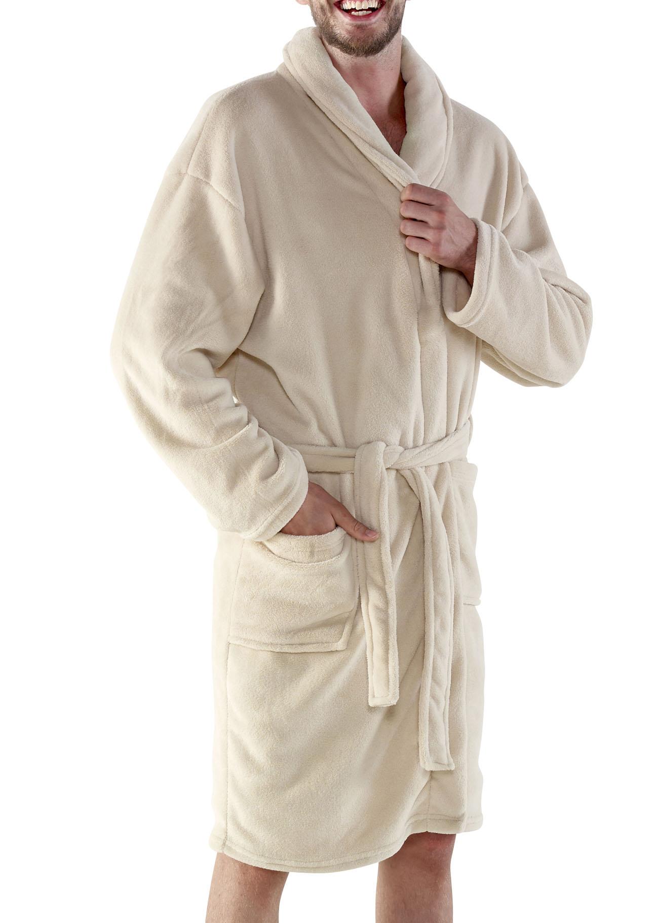 Online gehen Bestseller einkaufen neu kaufen Fleece-Bademantel 'Wellness' « Merkur Werbemittel