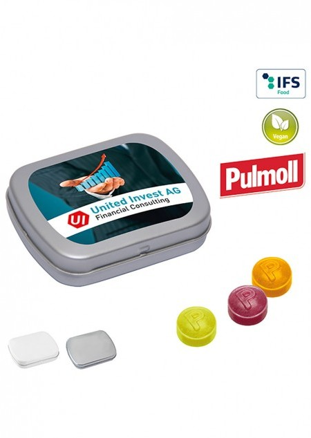 Mini-Klappdose mit Pulmoll Pastillen