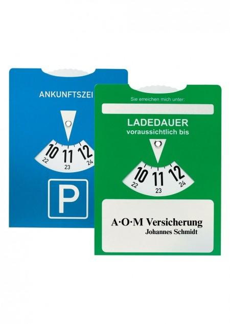 Ladedauer-Scheibe / Parkscheibe