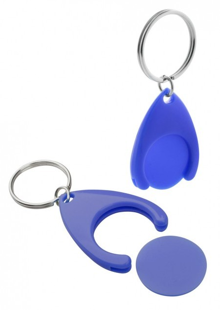 Schlüsselanhänger mit Einkaufswagen-Chip