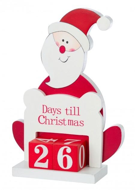 Tischkalender 'Santa Claus' aus Holz