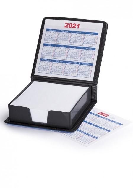 Notizzettelbox mit Kalender