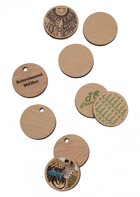 Holz 1€-Chip