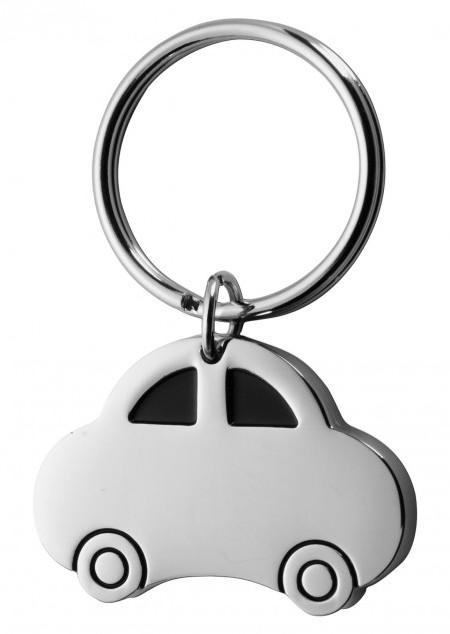 Schlüsselanhänger 'Racer' aus Metall mit Schlüsselring