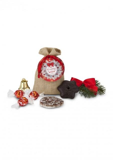 Süßes Weihnachtssäckchen
