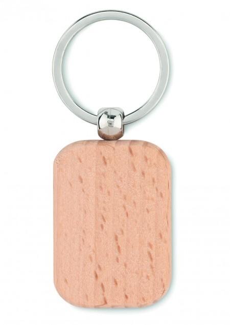 Schlüsselring Holz, eckig