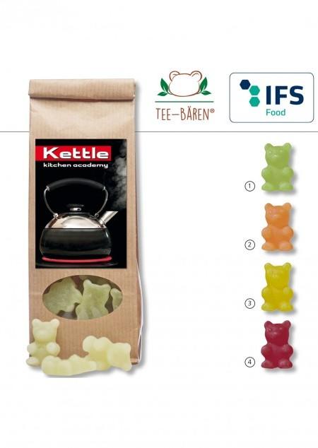 Tee-Bären® im braunen Papier-Blockbodenbeutel