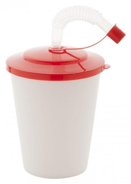 Trinkbecher mit Trinkhalm 400 ml