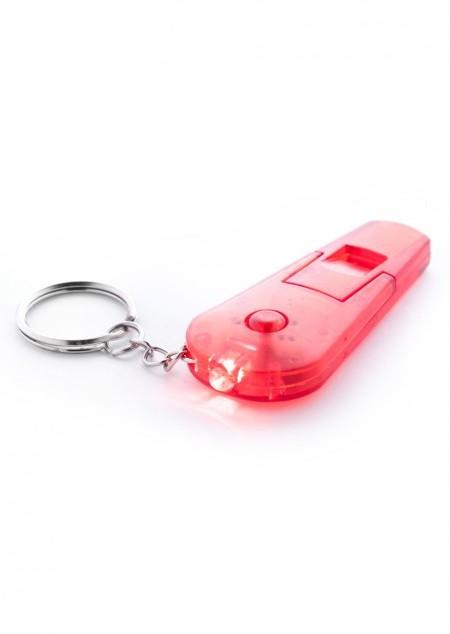 Schlüsselanhänger mit LED und Pfeife