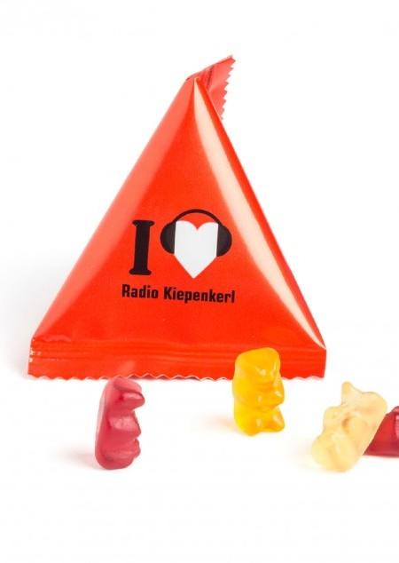 Mini Tetraeder mit Gummibärchen oder Fruchtgummi Standardformen