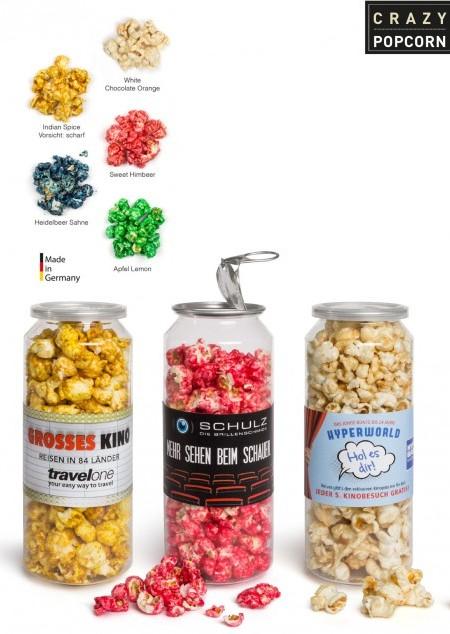 Crazy Popcorn in großer Dose