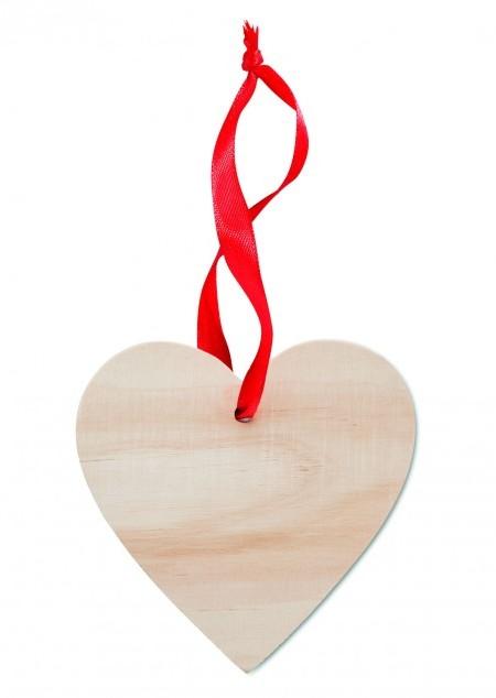 Herz-Holzanhänger