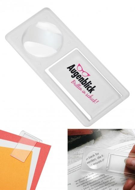 Lupe mit Zettelklammer