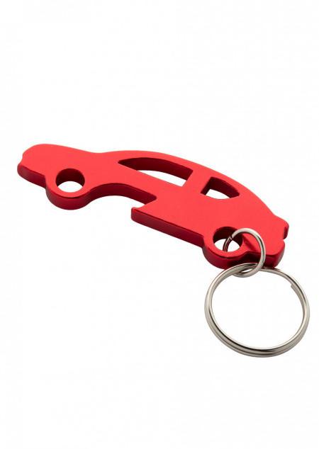 Schlüsselanhänger mit Flaschenöffner in Autoform