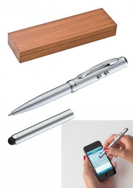 Laserpointer mit LED, Touchfunktion und Kugelschreiber