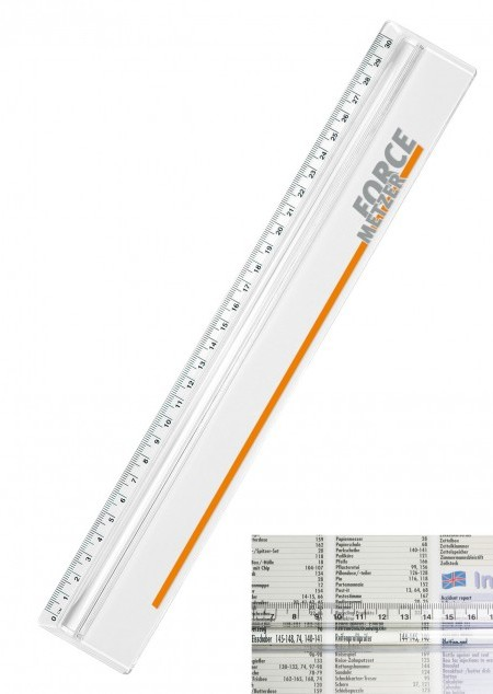 Lineal mit Zeilen-Lupe