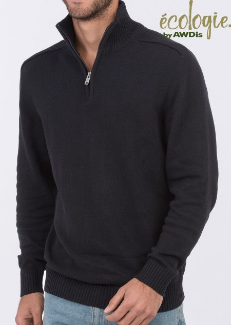 Viertel-Zip Strick-Sweater Wakhan