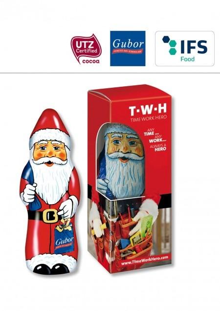 Gubor Weihnachtsmann in Verpackung